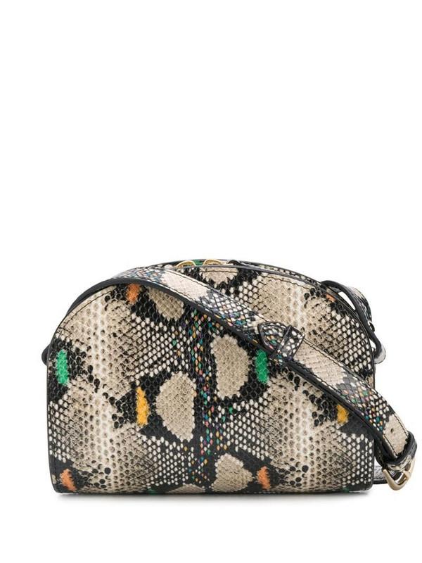 A.P.C. Demi-Lune Mini snake-effect bag in brown