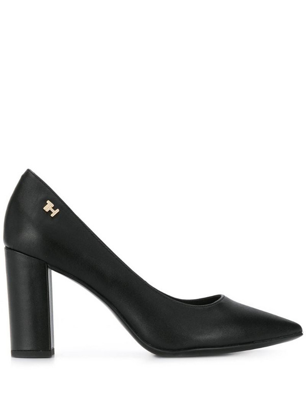 Tommy Hilfiger pointed high heel pumps in black