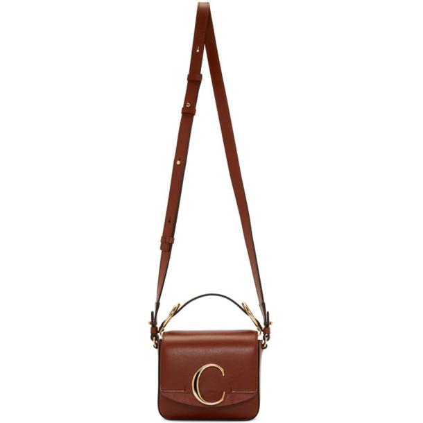 Chloé Chloé Brown Mini 'Chloé C' Bag