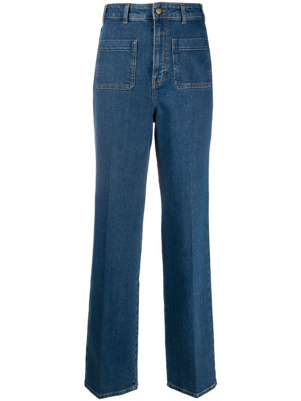 Ba&Sh flared style trousers in blue