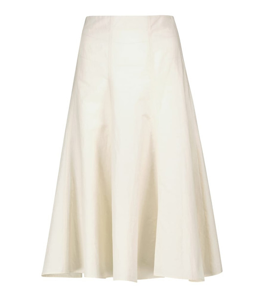 Joseph Sanne cotton and hemp midi skirt in white