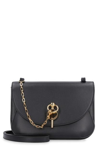 J.W. Anderson Keyts Leather Shoulder Bag in black