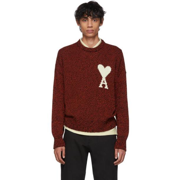 AMI Alexandre Mattiussi Red & Black Ami De Coeur Sweater