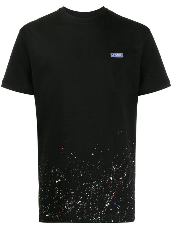 Ader Error paint splatter T-shirt in black