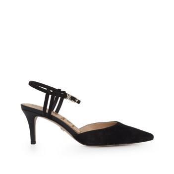 Sam Edelman Javin Ankle Strap Pump Black Suede