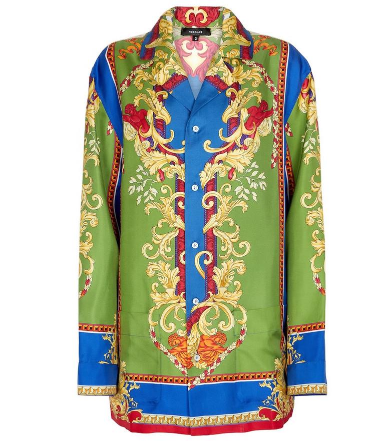 Versace Medusa Renaissance silk shirt