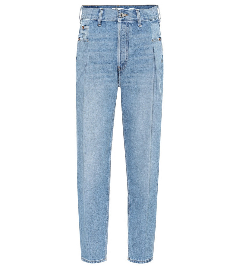 Re/Done 40s Zoot high-rise straight jeans in blue