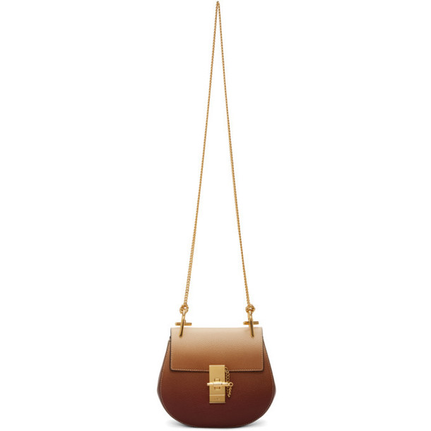 Chloe Brown and Beige Mini Drew Bag