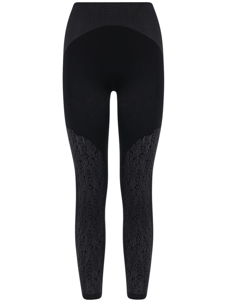 WOLFORD Stretch Jersey Leggings in black