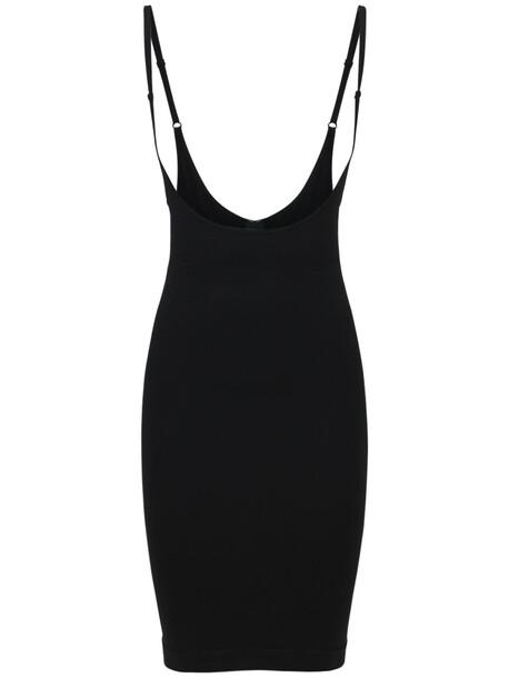 ANDREA ADAMO Sculpting Jersey Mini Slip Dress in black