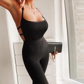 jumpsuit,black jumpsuit,party outfits