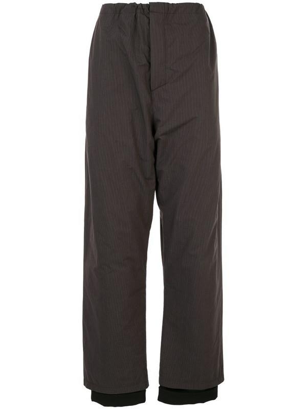 Y/Project tailor pyjama pants in brown