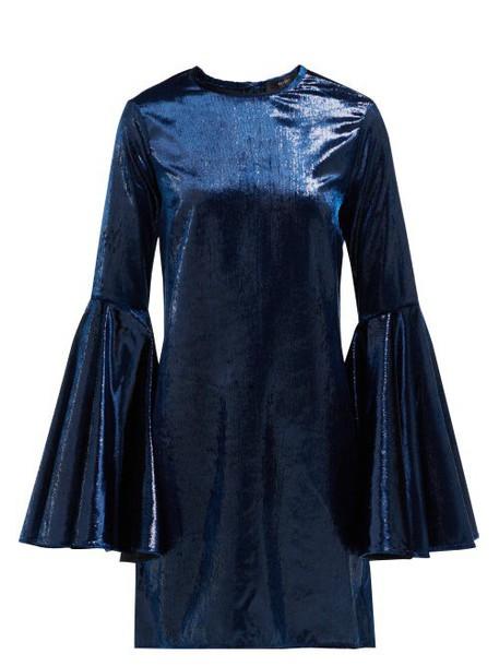 Ellery - Dogma Flared Sleeve Mini Dress - Womens - Navy