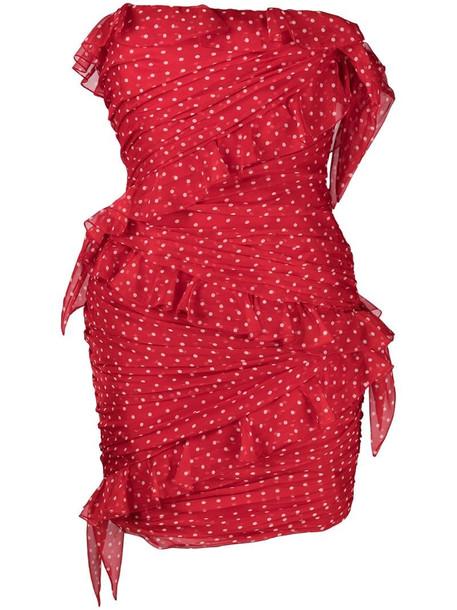 Philosophy Di Lorenzo Serafini polka dot-print mini dress in red