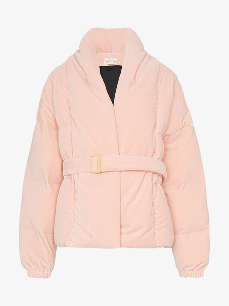 Alexandre Vauthier oversized puffer jacket in pink