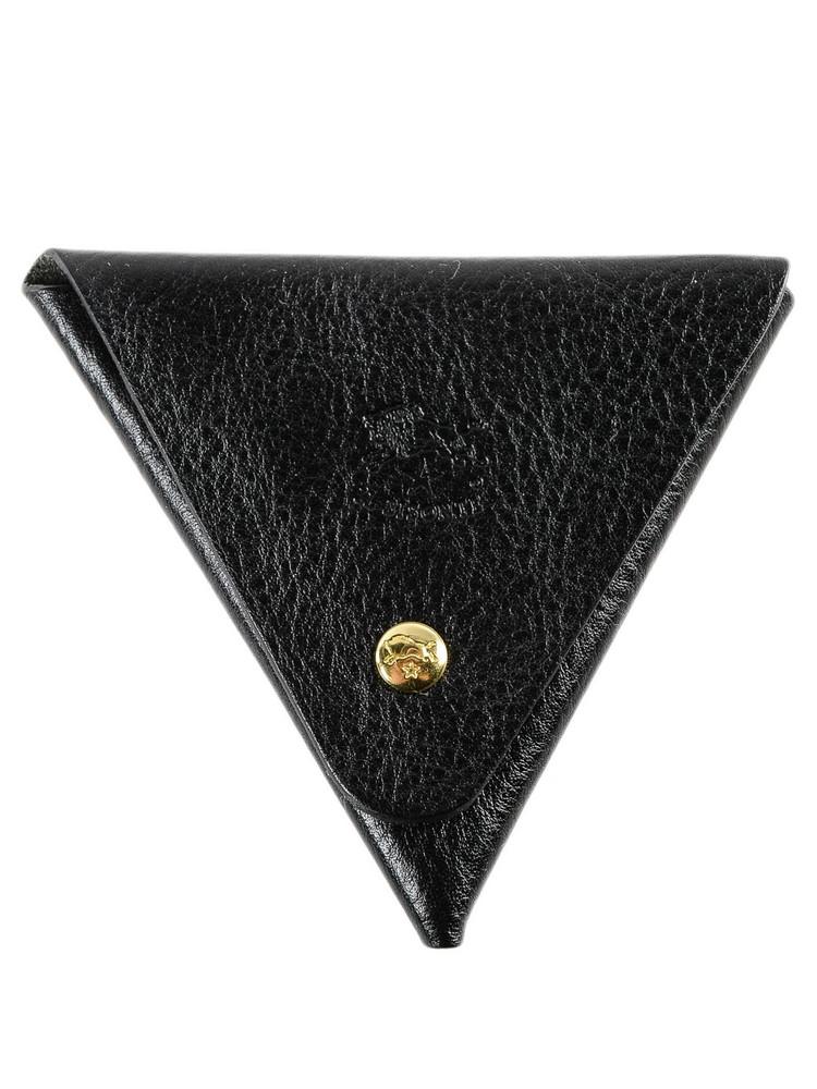 Il Bisonte Triangular Coin Purse in nero