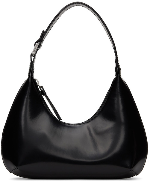 BY FAR Black Patent Baby Amber Bag
