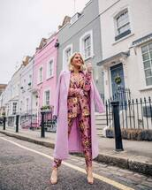 jacket,blazer,pink blazer,floral,river island,long coat,pink coat,high heel sandals