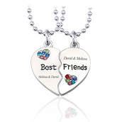jewels,bff,bff necklaces,best friends necklaces,friendship necklaces,heart necklaces,anniversary gifts,birthday gift for friend,valentines gifts