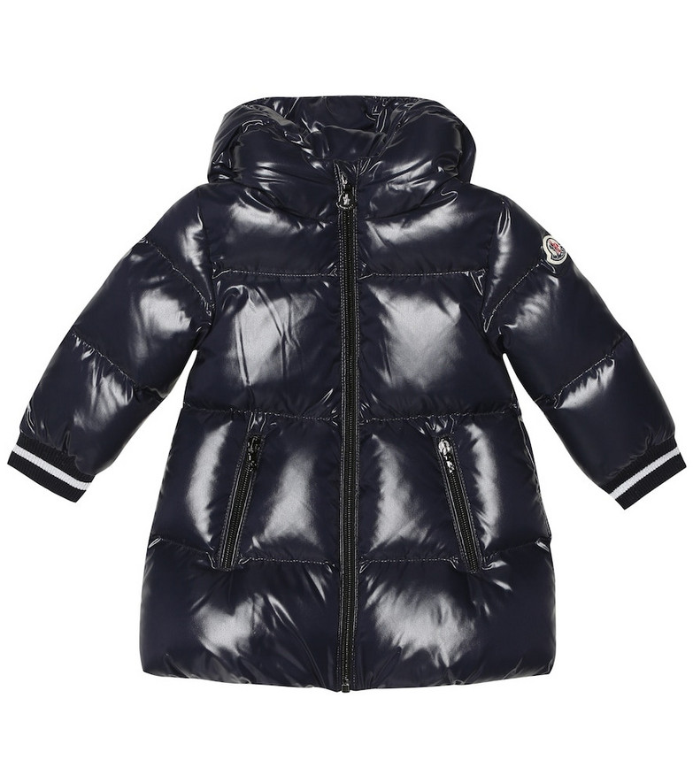 Moncler Enfant Baby Gliere quilted down coat in blue