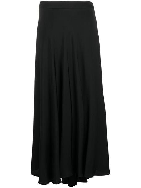 Peserico asymmetric draped skirt in black