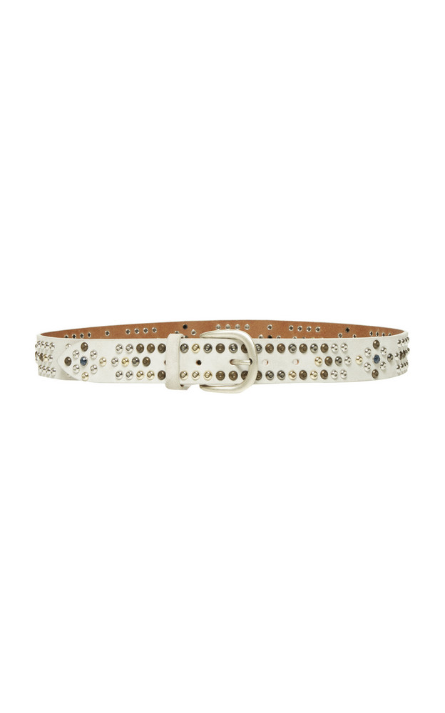 Isabel Marant Devis Studded Leather Belt Size: L in white