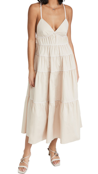 STAUD Cleo Dress in white