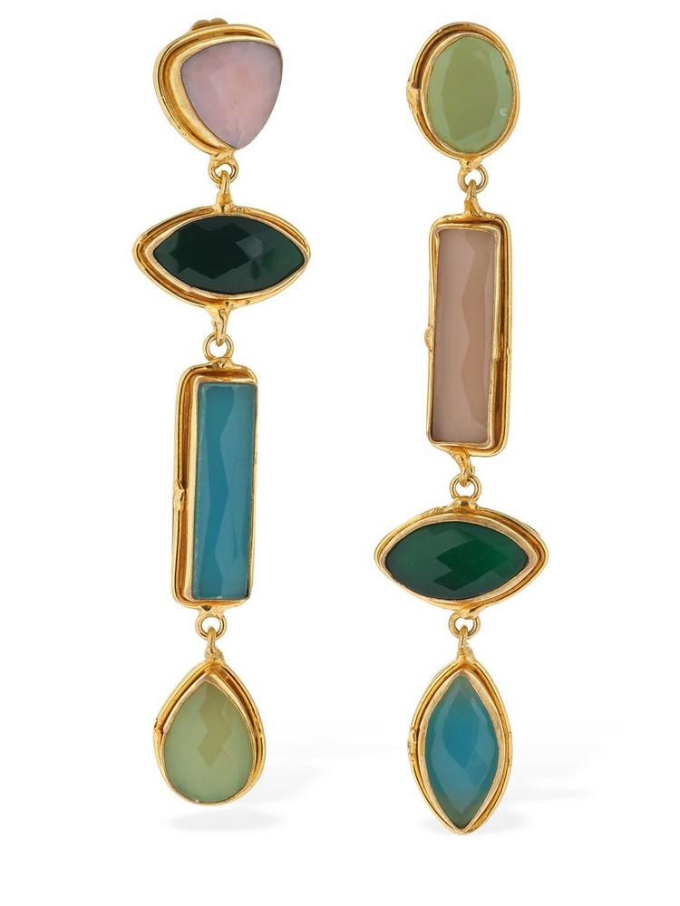 SYLVIA TOLEDANO Pendant Earrings W/stones in gold / multi