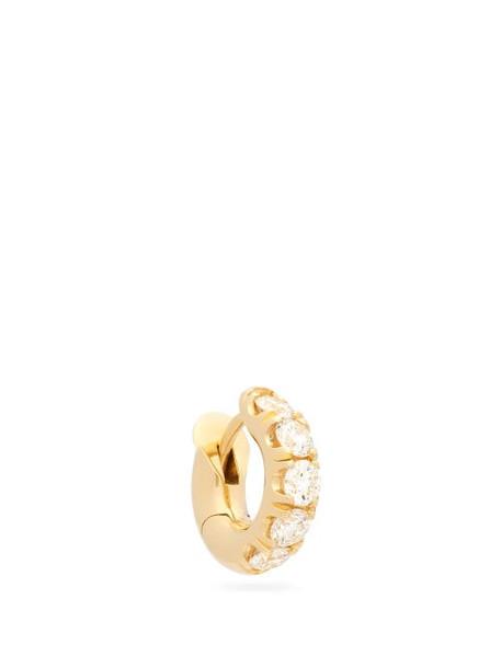 Spinelli Kilcollin - Diamond & 18kt Gold Single Hoop Earring - Womens - Gold