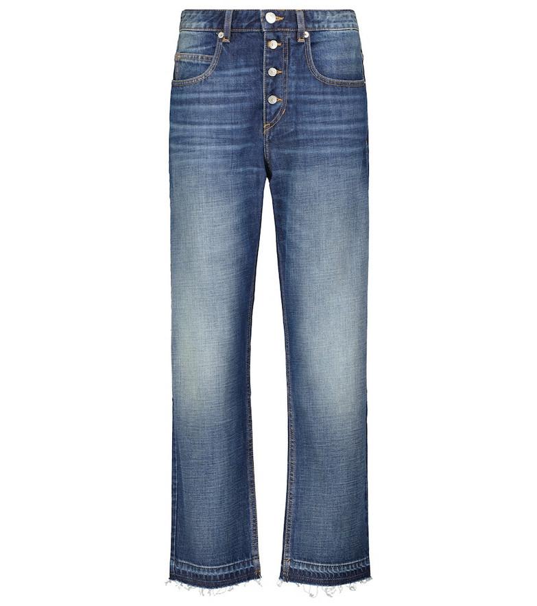 Isabel Marant, Étoile Belden cotton high-rise jeans in blue