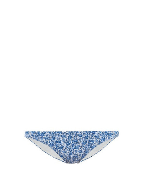 The Upside - Mila China Print Bikini Briefs - Womens - Blue White