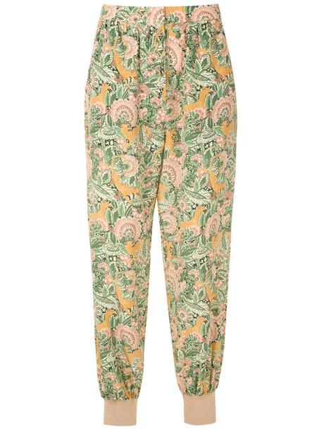 Nk silk Lena trousers in yellow