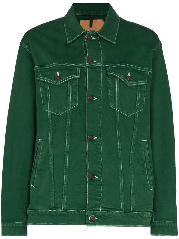 Jeanerica oversized denim jacket in green