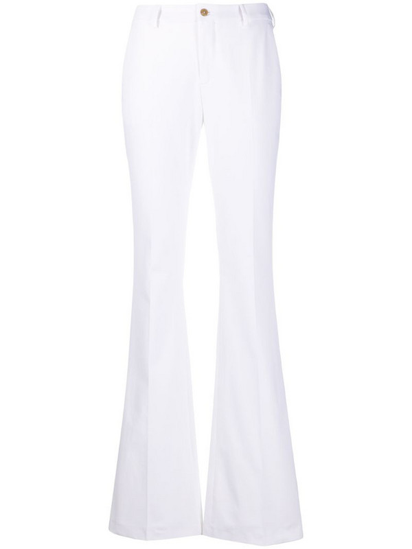 Pt01 mid rise flared trousers in white