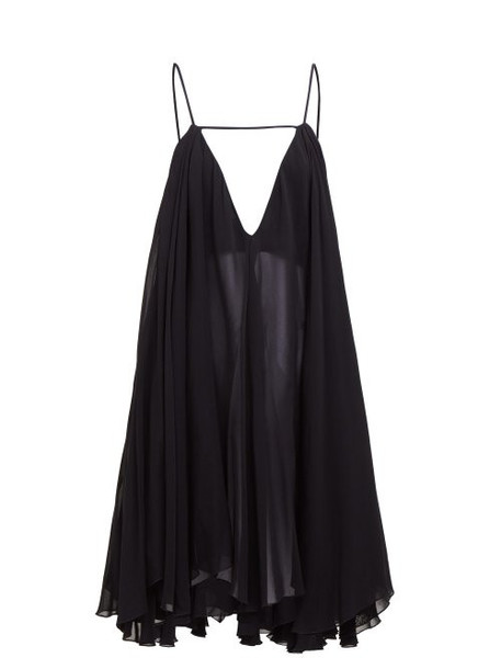 Jacquemus - Bellezza Chiffon Dress - Womens - Black
