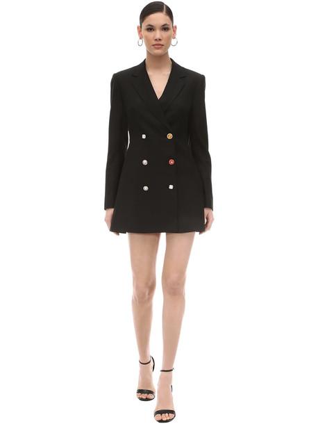 ROTATE Embellished Buttons Crepe Jacket Dress in black