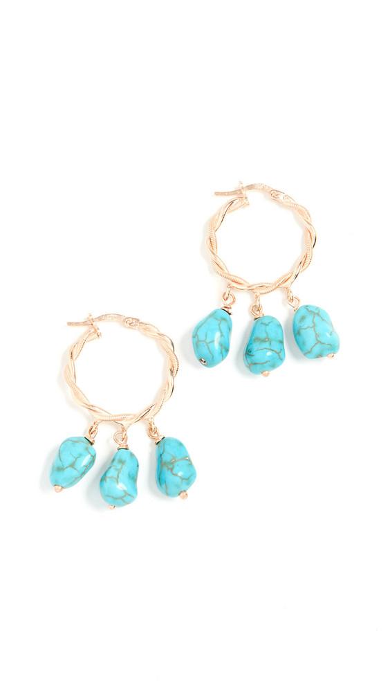 Maison Irem Hang Loose Earrings in gold