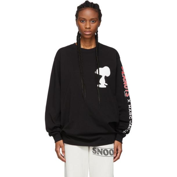 Marc Jacobs Black Peanuts Edition Snoopy Long Sleeve T-Shirt