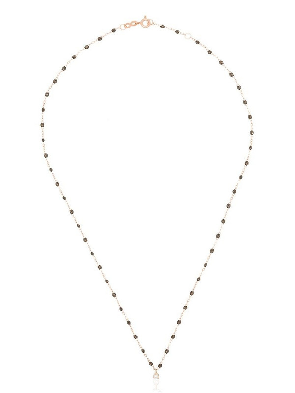 Gigi Clozeau 18K rose gold Gigi Supreme beaded diamond necklace in pink