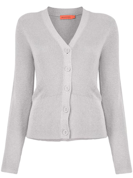 Manning Cartell button-up knitted cardigan in grey