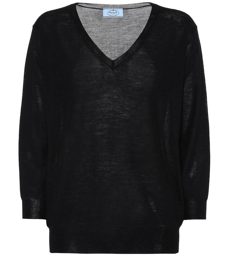 Prada Virgin-wool sweater in black