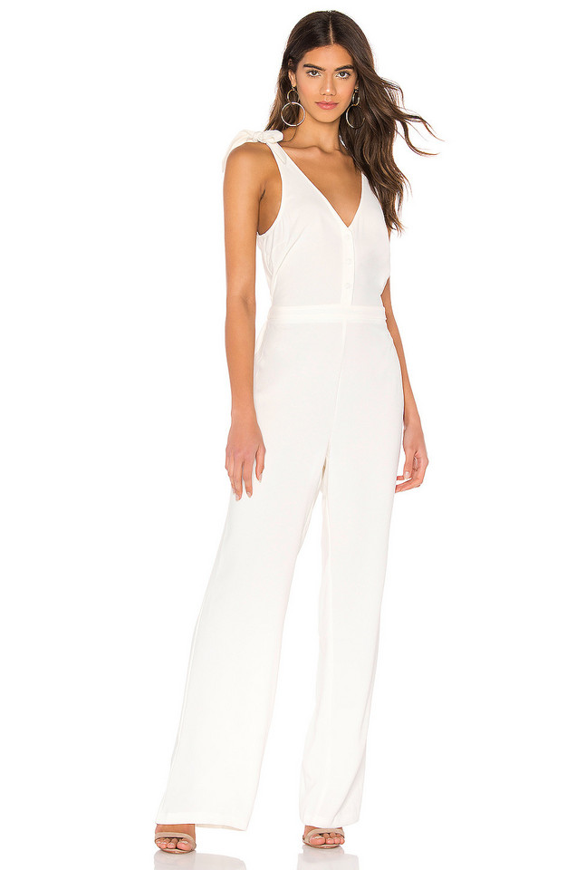 cupcakes and cashmere Topeka Jumpsuit in white