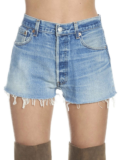Re/done Shorts in blue