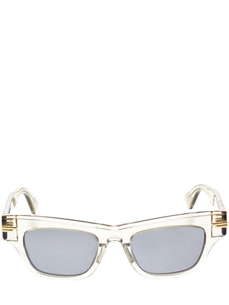 BOTTEGA VENETA Squared Acetate Sunglasses in grey / beige