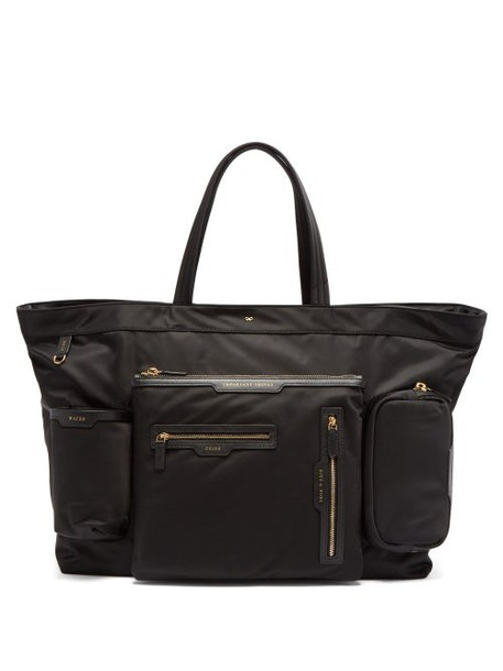 Anya Hindmarch - Leather Trim Tote Bag - Womens - Black