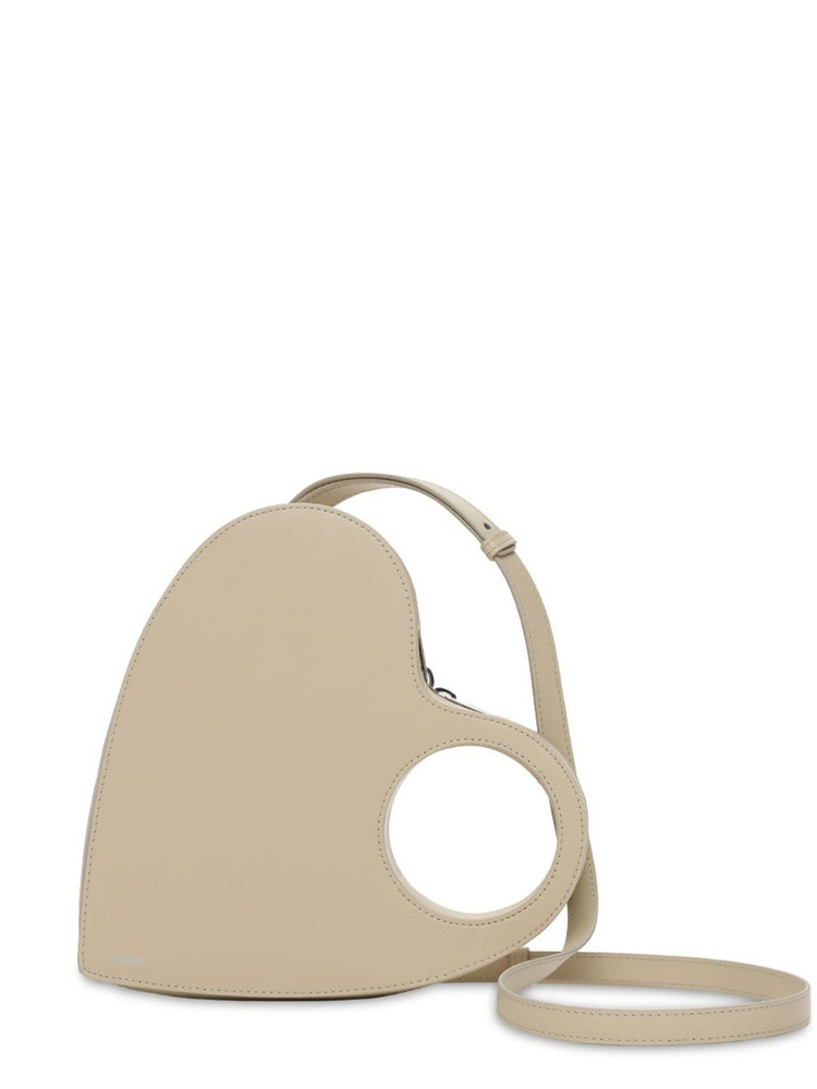 COPERNI Heart Swiipe Leather Shoulder Bag in sand