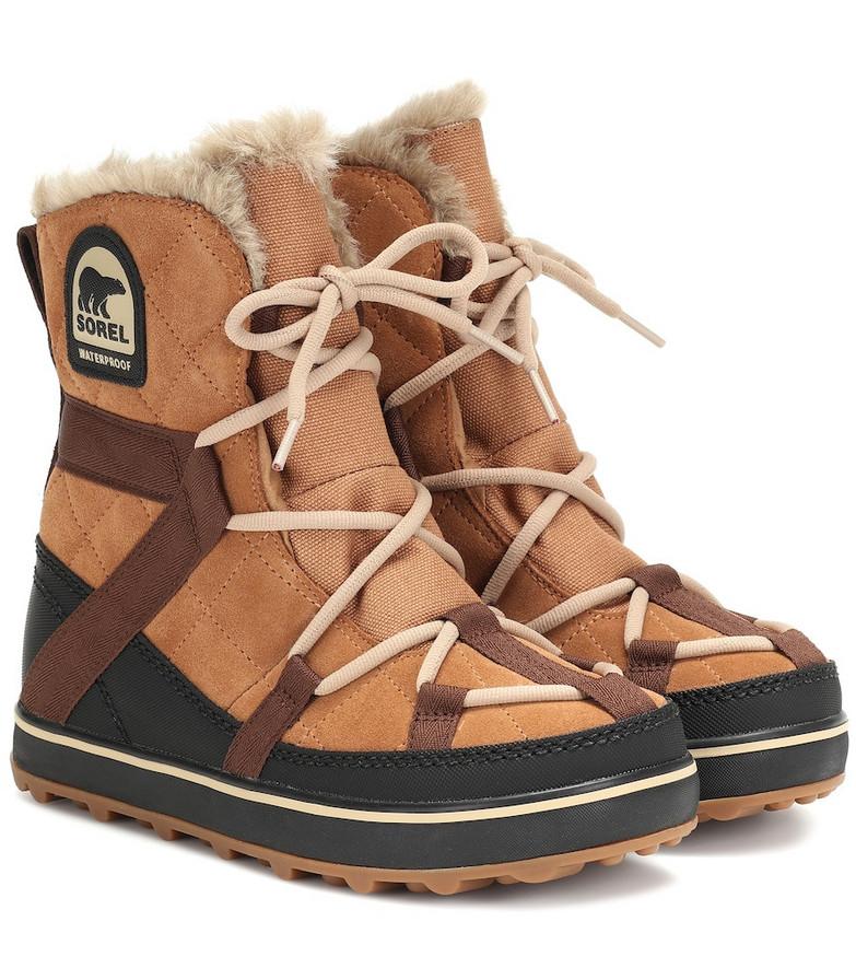 Sorel Explorer suede boots in brown