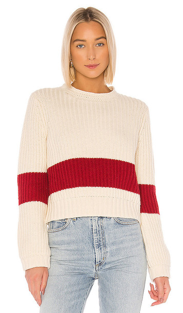 Birds of Paradis by Trovata Cara Crochet Trim Sweater in White