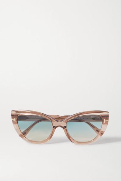 TOM FORD - Cat-eye Acetate Sunglasses - Beige