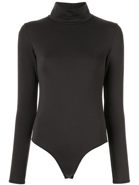 Vaara high-neck body in black